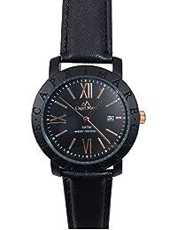 Capri MAR Reloj de Hombre colección Night Total Black con Correa de Piel Cinturino Nero Negro