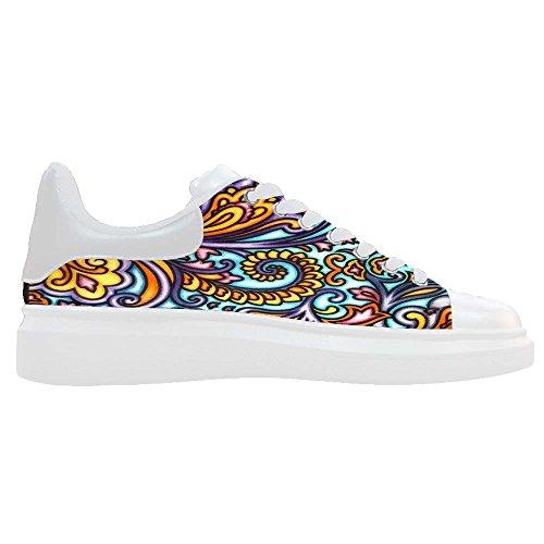 Dalliy Paisley Colored Print Women's canvas Footwear Sneakers Shoes Chaussures de toile Baskets A