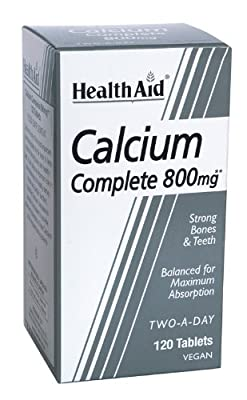 HealthAid Calcium Complete 800mg - 120 Vegan Tablets by HealthAid