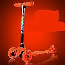 Vespa/Bebé es tres o cuatro en línea entrenadores de patinaje artístico sobre hielo/ slide tackle/ swing Scooter-naranja