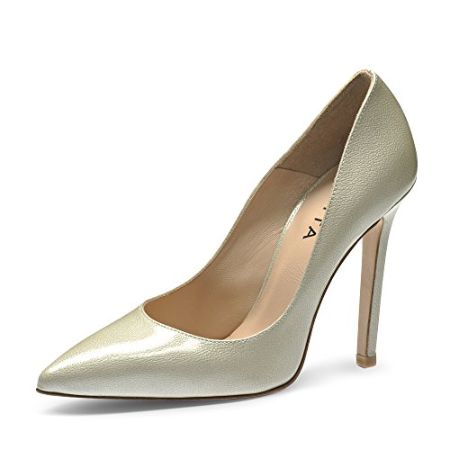Evita Shoes MIA Damen Pumps Lack mit Prägung Perlmutt 42