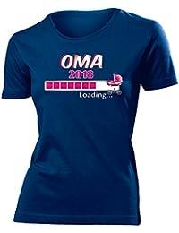Oma 2018 Loading - Geburt - T-Shirt Damen Gr.S bis XXL