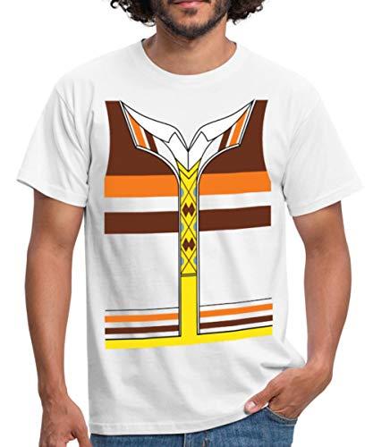 Kostüm Raj Koothrappali - Spreadshirt The Big Bang Theory Raj Koothrappali Männer T-Shirt, 4XL, Weiß