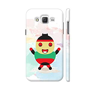 Colorpur Samsung J2 (Old) Cover - Angry Little Kid Printed Back Case