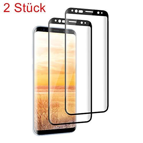 SZXHKEDZ Galaxy S9 Panzerglas Schutzfolie, [2 Stück] 9H Härte/Anti-Kratzer/Einfaches Anbringen/Anti-Öl/Displayschutz Gehärtetem Glas Displayschutzfolie Folie für Samsung Galaxy S9 (Transparent)