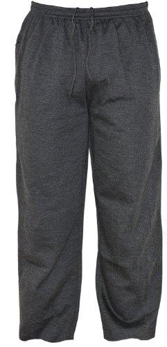 Fleece Jogginghose für Herren, zwei Seitentaschen und einer Gesäßtasche mit Reißverschluss, Größen: S bis 5 XL  Gr. L, anthrazit Rei Fleece Hose