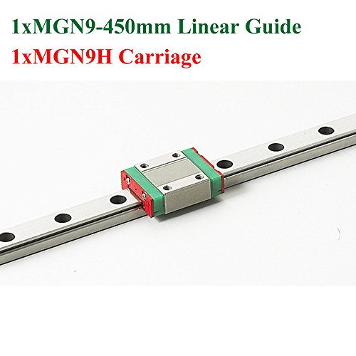 Price comparison product image MR9 9mm Mini MGN9 Linear Guide Rail Length 450mm With MGN9H Linear Block Carriage For Cnc