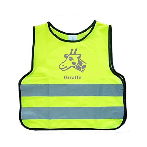 Gelbe Warnweste Für Kinder |Flexibel, Leicht, Einstellbar (Size : XS) ()