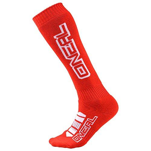 O'Neal Pro MX Corp Knie Socken Strümpfe Motocross Enduro Offroad Downhill DH Komfort, 0356-73, Farbe rot
