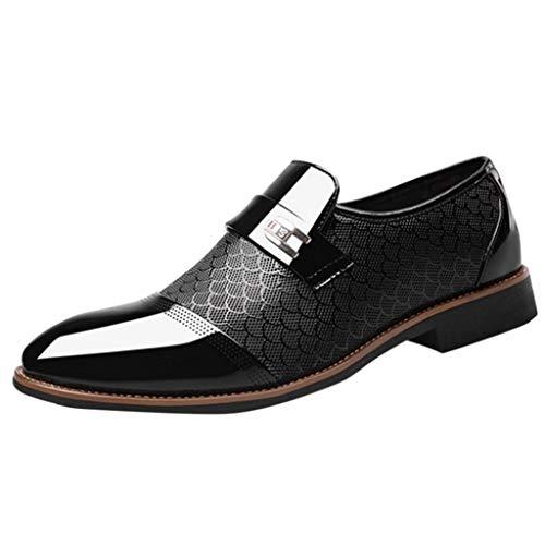 NIUQY Sonderverkauf Mode Luxus Mode Männer Business Leder Schuhe Casual Spitzschuh Männlichen Anzug Schuhe Die Freisetzung von Charme Charakteristisch Geschenk - Männliche Thong Spitze