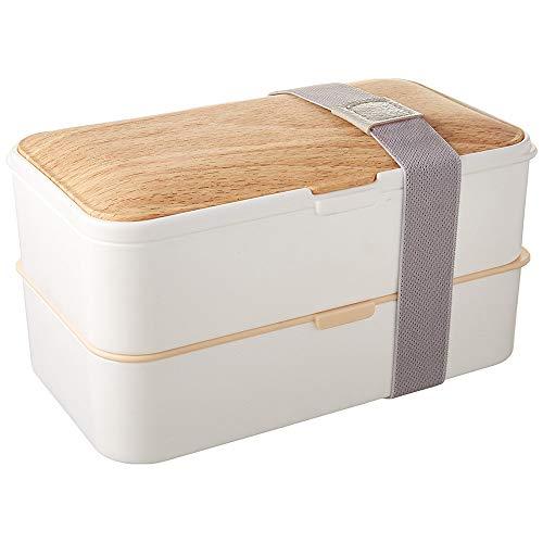 Putwo porta pranzo ermetico scatola pranzo scatola bento a tenuta stagna 1200ml capacità lunch box con set di posate - bianca