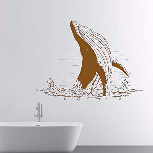 Zaosan Meerestier Wandaufkleber abnehmbar Weir Fisch Meer Wandtattoo Home Bad Dekoration Wanddekoration Vinyl Stil Wandtattoo - Grant Holz-künstler