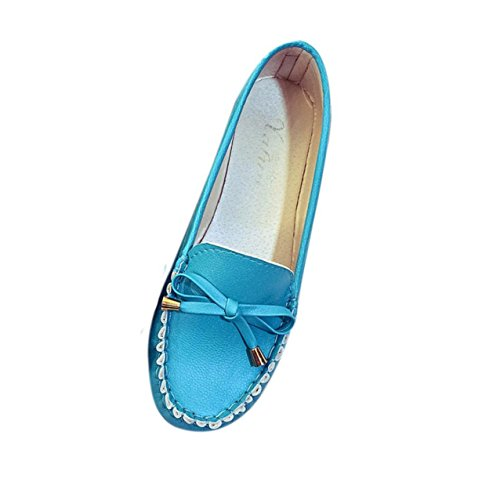 LHWY Damen Wohnungen Schuhe Casual flach Frauen Schuhe Slip Flat Women's Shoes Blue