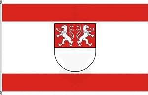 Königsbanner Autoflagge Witten - 30 x 45cm - Flagge und Fahne