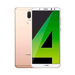 """Huawei Mate 10 Lite - Smartphone DE 5.9"""" (Octa-Core 4x2.36 GHz, RAM de 4 GB, Memoria Interna de 64 GB, Camara de 16 MP y Camara Frontal de 2 MP, Android 7.1) Color Oro"""