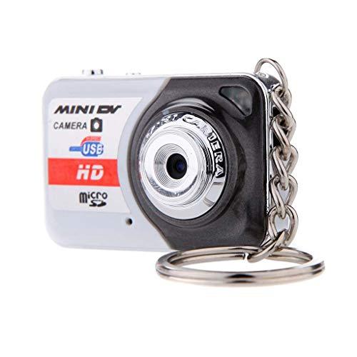 Laiyiy Appareil Photo numérique Portable caméra Ultra Ultra Mini-caméra 32GB TF Cassette Microphone caméra numérique Ordinateur DV caméra Prise de Vue Enregistrement (Conception : Add 16G)