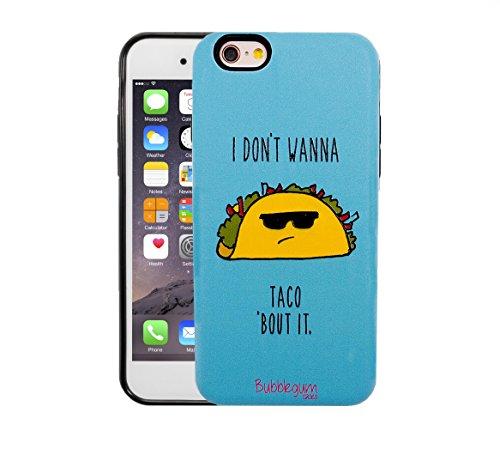 Bubblegum Hüllen für iPhone 6 6S Genuine TIER & NAHRUNG QUOTEN Cartoon Fall Abdeckung (Cat Katze) Taco