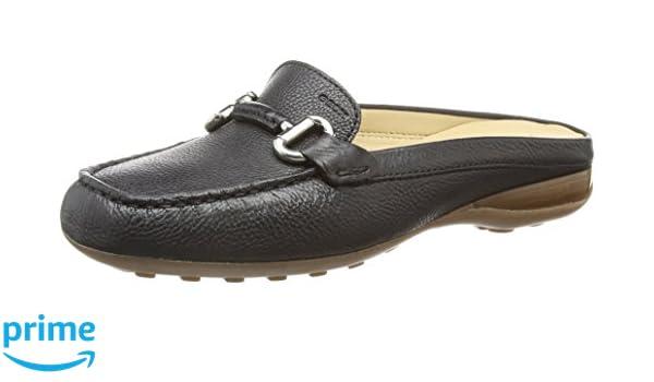 Mocassins Donna 35 Geox Noir Euxo loafers Femme C9999 qFEwCRH