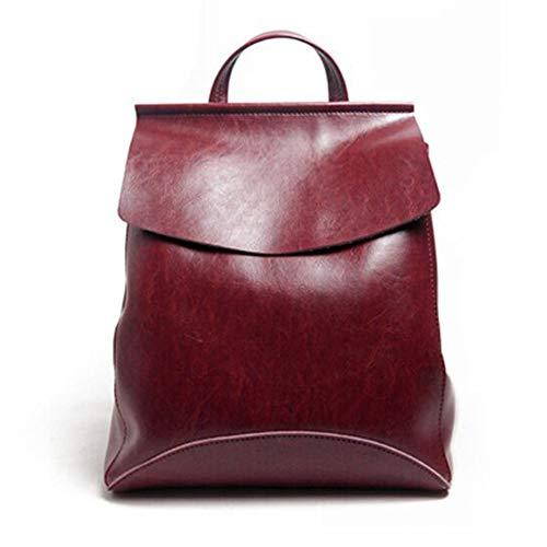 Yoome Womens Zaino in pelle multi-Way Girls School Backpack Vintage semplice design borsa Borgogna