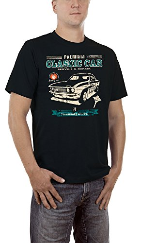Touchlines Herren T-Shirt Classic Car Manta A Youngtimer, Schwarz (Black 13), X-Large