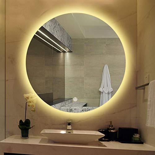 Bathroom Mirror Miroir De Salle Bain Anti BueE Rond LED Mural Intelligent