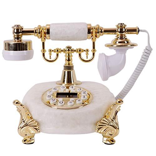 Telepho Gelb Weiß Kreative Retro Style Vintage Festnetz-Telefon Klassisches Festnetztelefon, In Verschiedenen Farben Und Stilen Erhältlich (Farbe : Weiß, Stil : C)