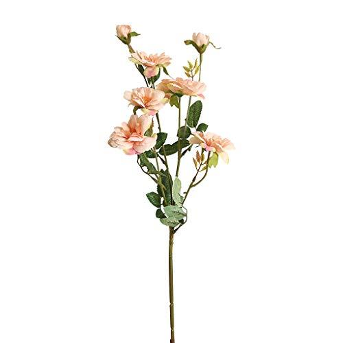 Chinesische Pfirsich (Junjie Künstliche gefälschte Seidenblume Blatt Rose Rose Pfirsich chinesische künstliche Blume künstliche Hochzeit Bouquet Party Home Grün)