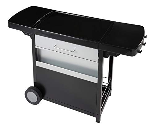 Campingaz Wagen für Grillplatte, Schwarz - Edelstahl-lebensmittel-fach