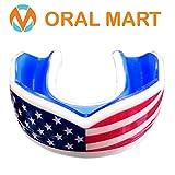 Oral Mart Garde la Bouche du Drapeau USA - Coussin Jeunesse Drapeau américain Sports Porte-Parole de Flag Football, (11 Ans et Moins) Américain...