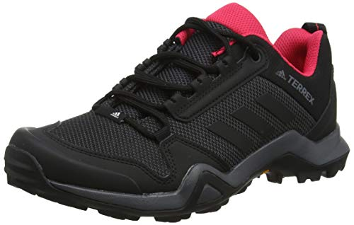 adidas Damen Terrex AX3 W Trekking-& Wanderhalbschuhe, Grau (Carbon/Core Black/Active Pink 0), 39 1/3 EU (Adidas Damen Outdoor-schuhe)