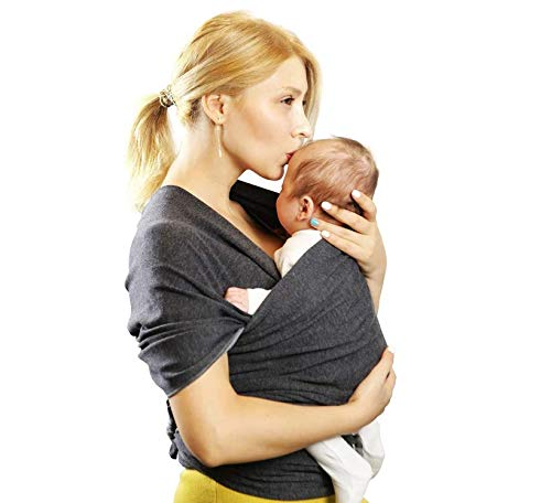 Baby Carrier, Frabe Family, Newborn Bank, Baby Carrier, Anthracite, Up to 16kg Frabe Family The easiest one: with our baby wrap, you won't have any problems wearing it or putting your little angel, forget those contorionist scenes, with our practical and safe baby headband. Thanks to its specially designed size, you can choose the best position for you and your little one, your back will enjoy proper support. Very comfortable: a practical gift for mom and baby, our pure cotton headband will ensure maximum comfort and fit in all situations and seasons, ensuring freshness in the summer and warmth in the winter to take care of your baby. It will help mom discharge the weight of baby in the most natural and comfortable way possible. HIS SAFETY: This cotton baby wrap will be able to ensure durability and hygiene over time, it will not let go over months and will keep your baby securely thanks to its maximum hold of 20 kg. Perhaps one of the best gift ideas for the mother to be and for the baby, a must have accessory for the best friend. In case of any stains or dirt, it can be washed quickly and as quickly as it dries without losing colour. 3