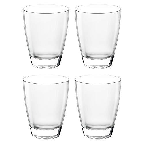 Bormioli Rocco Nadia Double Old Fashioned Tumbler Gläser Set - 375ml (12 3/4 oz) - Packung mit 4 4 Double Old Fashioned Gläser