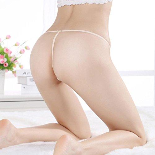 POachers Biancheria intima perizoma perizoma Bragas Sexy Mutandine perizoma in pizzo parola pantaloni da donna Beige