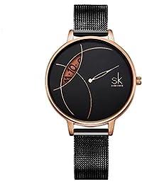04d2893a2b77 Amazon.es  Plateado - Relojes de pulsera   Mujer  Relojes