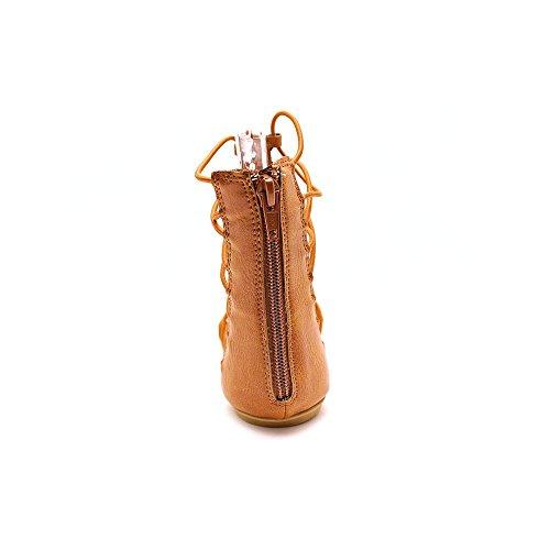 American Rag Romen Kunstleder Gladiator Sandale Cognac