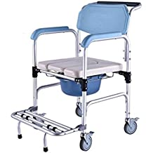 HRRH Cómoda Sillón Silla Silla Móvil Ancianos Mujeres Sillas de Ducha de Aleación de Aluminio Sentado