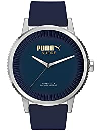 Puma Time Herren-Armbanduhr 10410 SUEDE - DENIM BLUE Analog Quarz Silikon PU104101003