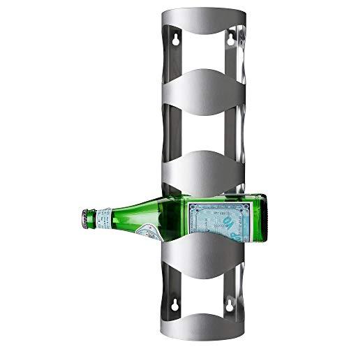 """IKEA Flaschenregal \""""VURM\"""" Halter für 4 Flaschen - aus EDELSTAHL"""