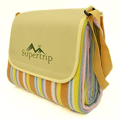 Supertrip 198 x 145 cm Picnic Blanket Picnic Rug PVC Waterproof Backing produced by Guangzhou Supertrip Network Technology CO., LTD - quick delivery from UK.
