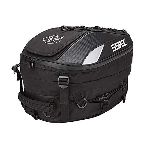Smileyshy Sacchetto di Coda SSPEC Moto da Corsa Sedile Posteriore Zaino Cavaliere può Mettere Il Casco Locomotiva in Sella Borsa Multi-Funzione