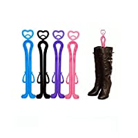 TankerStreet Boot Holder Shaper Boots Stands Over Knee High 4 Pack, Folding Shoes Stands Upright, Shoe Holder Clips Organiser Foldable Supporters Hanger Set - Colouring