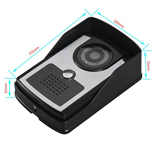 PUTECA 7 inch door video phone 2 monitor 1 outdoor machine HD camera Infrared night vision system