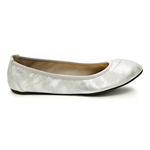 Cocorose London Barbican - Silver Shimmer - EU 41 (Flache Beschränkt Schuhe Frauen)