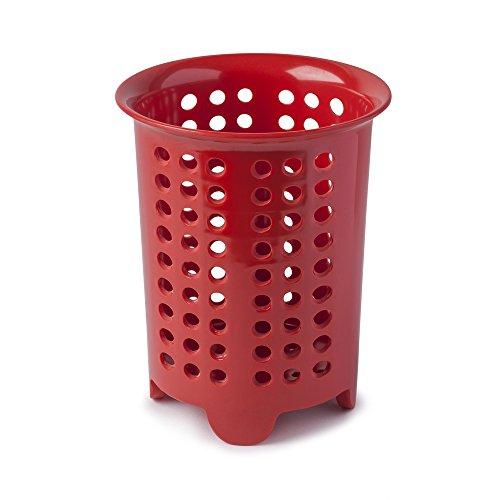 Zeal escurridor para Cubiertos/para Utensilios Pot, melamina, Rojo, 14x 14x 17cm