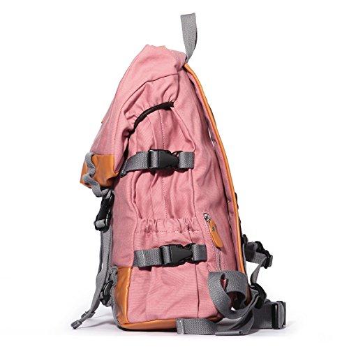 12686ae2c578a ... Eshow Damen Canvas Reise Camping Picknick Sportlich Freizeit Wochenende Rucksack  Taschen Rosa ...