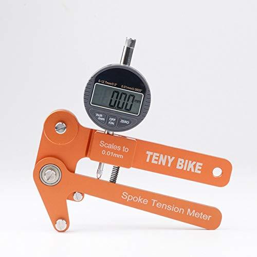 Gecheer Fahrrad Rad Builders Tool Bikes Anzeige Tensiometer Skalen Speichen Spannung Tester Digital Waage 0,01 mm Elektronischer Zähler (Bike-skala)