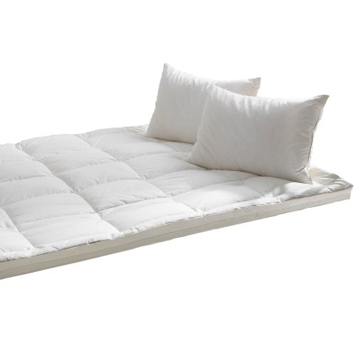 Starry Night Luxury White Goose Feather & Down Mattress Toppers, 100% Cotton Cover, to Fit All Mattress Depths 2
