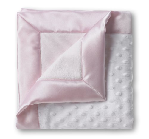 SwaddleDesigns Stroller Blanket, Plush Dots and Baby Velvet, Pastel Pink