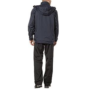 Ultrasport Traje Impermeable para Hombre Harry - Traje de Lluvia para Moto o Ciclismo - Conjunto de Chaqueta y Pantalón Impermeable - Chubasqueros, Azul Marino, L