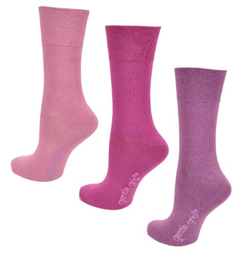 3paia di calzini da donna, impugnatura comfort, 4-8UK, 37-42EU, luce